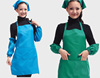 Kitchen cheap bulk printed your custom logo aprons promotional