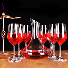 lead free crystal red wine glass