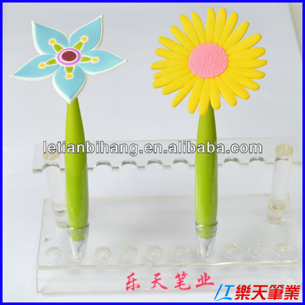 LT-Y377 Nice palstic ballpoint pen with flower