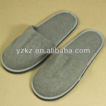98e7431b54f Eco Friendly Natural and Organic hotel disposable printed cotton towel  closed toe slippers hotel amenities