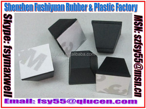 Self-Adhesive Square Rubber Feet Supplier / Square Silicone Feet With Adhesive Seller / Adhesive Square Rubber Bumper Producer