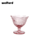 Embossed Ice Cream Glass Bowl Instock Color Colored Wine Glass