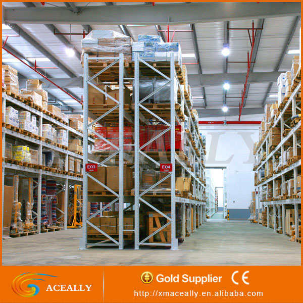Heavy Duty Pallet Rack Storage / Metal Shelving System / Steel Structure Pipe Rack