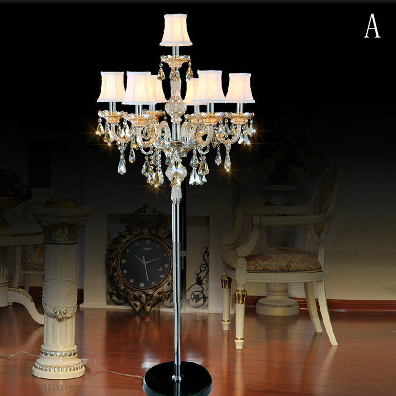 modern floor lamp bedroom luxurious crystal floor lamp living room with lampshade led floor. Black Bedroom Furniture Sets. Home Design Ideas