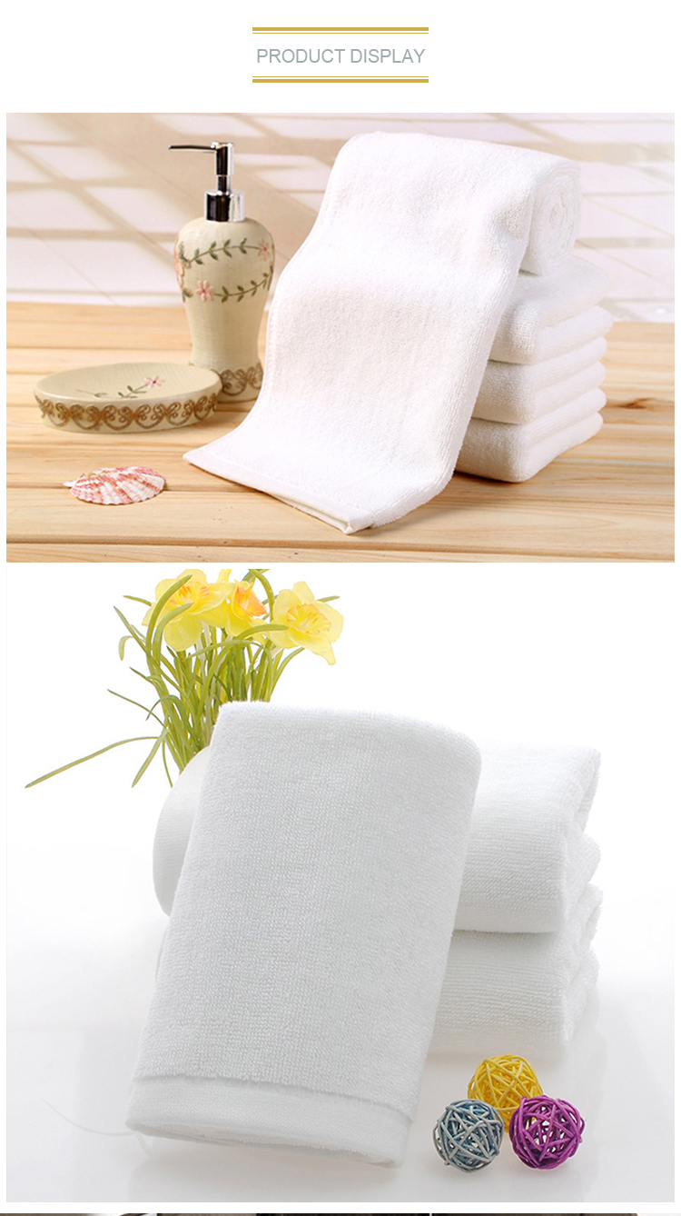 2019 hot luxury white 100 cotton hotel bath towel