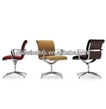Swivel Chairs Without Wheels, Rubber Feet Office Chair With Adjustable Feet  DU 1009U