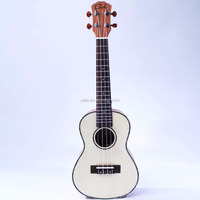 wholesale small size 24 inch ukulele Hawaii guitar spruce body top material mahogany back side die cast machine head