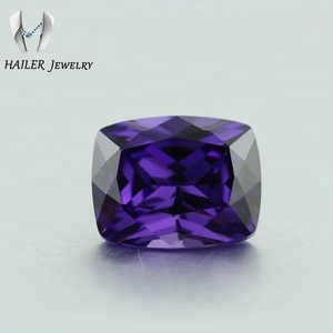 Big cubic zirconia jewelry cushion purple rectangle stone