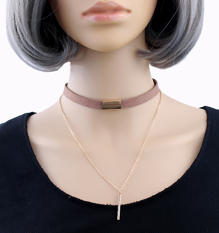 New Fashion Velvet Choker Necklace Bar Chain Pendant Charm Chocker Collar Necklace For Women