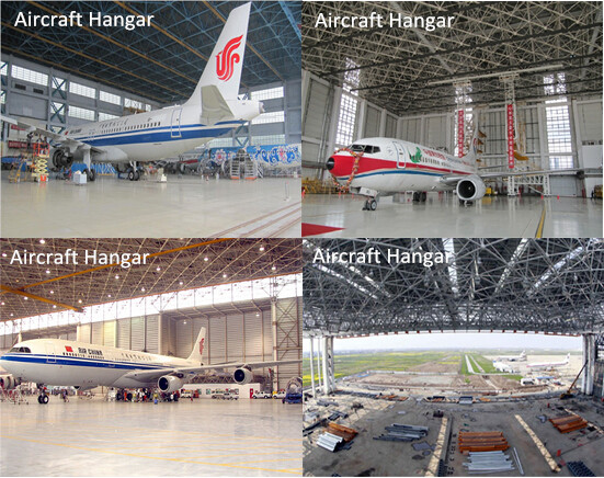 Prefabricated space frame aircraft hangar