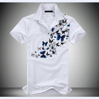 Men Large Size Printing POLO Shirt 2017 New Cotton Leisure Short Sleeve Summer Polo Men's Fashion Brand Clothes 5XL 6XL