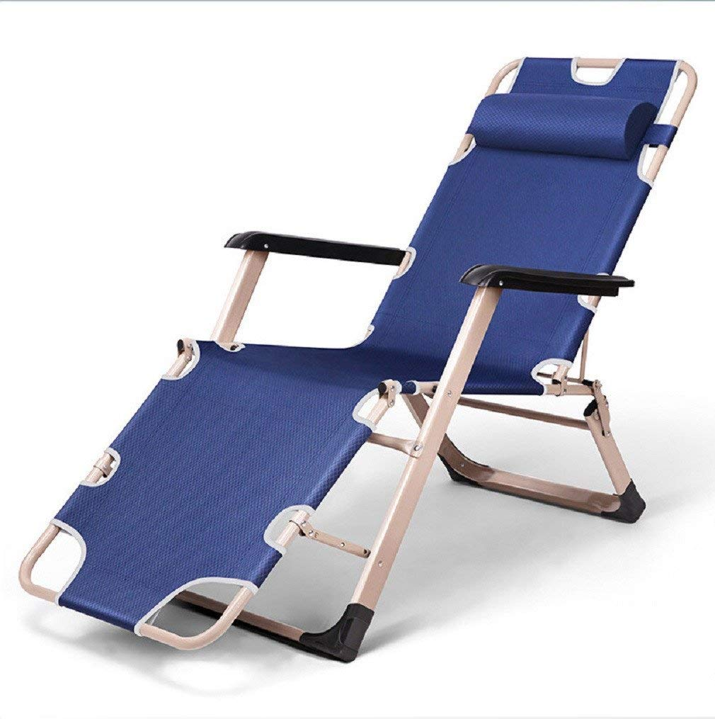 ZLJTYN Zero Gravity Folding Sun Lounger | Foldable Deck Chair Single Outdoor Recliner Portable Folding Bed, Beach Chair, Bold Accompanying Bed Camp Bed, Chair (Bear at least 202 Kg)