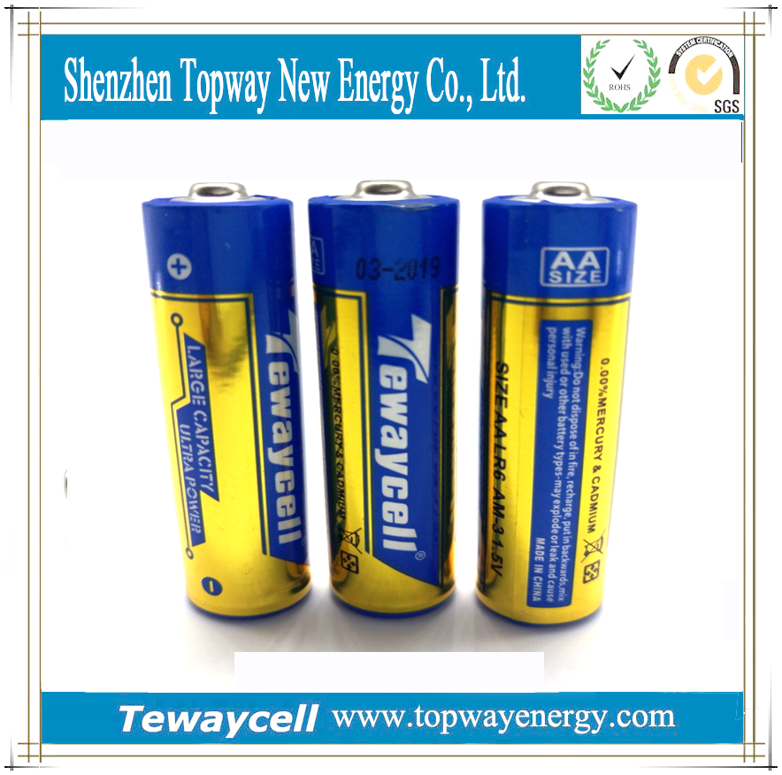 Manufacturer AA 1.5V alkaline battery OEM
