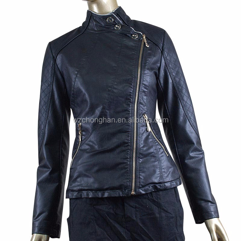 Moda Buy De Chaqueta Cuero Señoras Negro OZiXPku