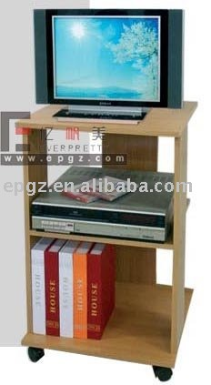 High quality mobile wood TV / VCD set stand / rack / shelf / table, GH-59