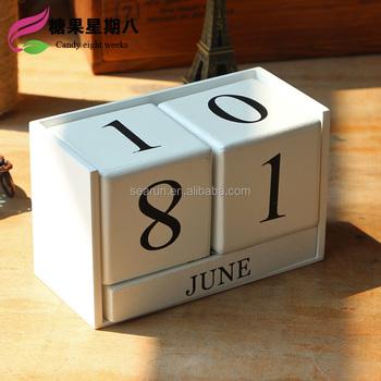 2017 New Wooden Perpetual Calendar Wood Block Desktop Calendar Buy Wooden Calendarwooden Desktop Calendarwooden Block Calendar Product On