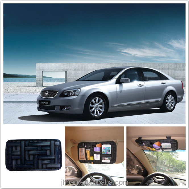 Cool Grid Car Sun Visor Organizer Storage for Pen Phone Charger