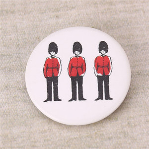 Shirt plain button pin/printed badge/metal pin badge with your own design