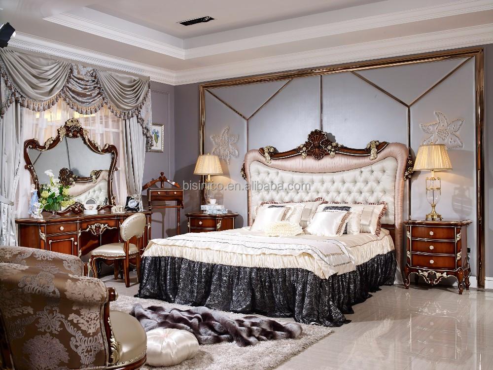 Eau style luxe antique lit mobilier de chambre de luxe for Commande chambre a coucher