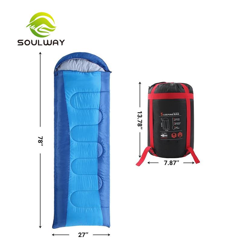 ขายร้อนคุณภาพสูงกันน้ำนุ่มสบายฉุกเฉิน Sleep Bag สำหรับ Camping เต็นท์ตกปลาเดินป่า