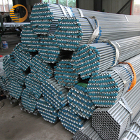 erw round spiral hot dipped galvanized steel pipes