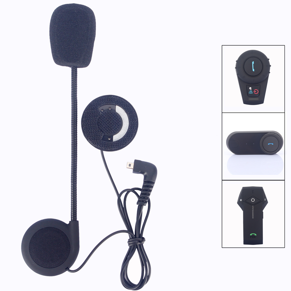 Helmet intercom accessories,mini usb earphone & microphone suit for FDCVB T-COMVB TCOM-SC COLO KIE motorcycle helmet bt intercom