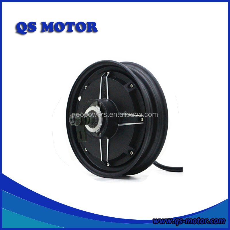10 inch QS BLDC Motor 1500w 48V/60V/72V E-Scooter In-Wheel Hub Motor (45H) V2 Type, Black or silver