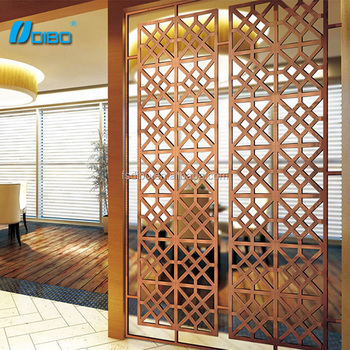 Restaurant Decorative Stainless Steel Partition Screen