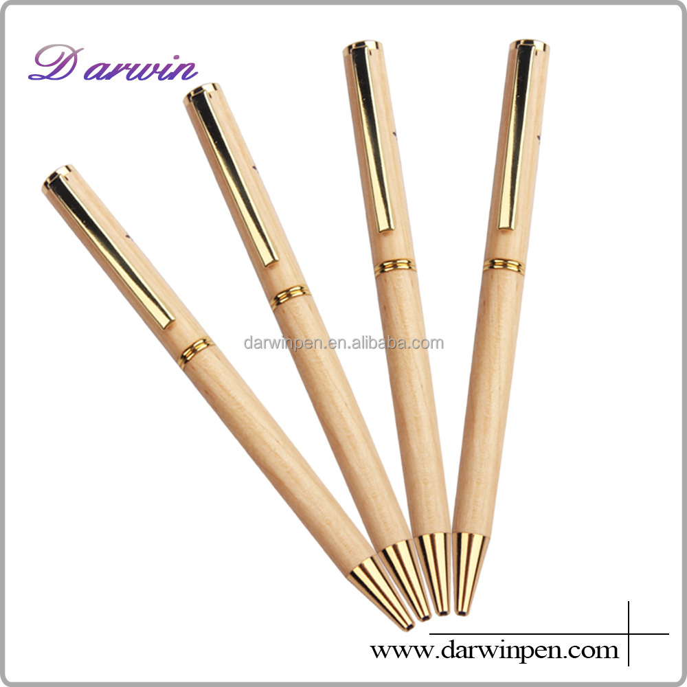 Hot selling Gross Wooden Metal ball pen for promotion Germany quality