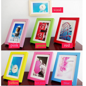 high quality cheap custom creative family desktop wall hanging engraved wooden picture photo frame