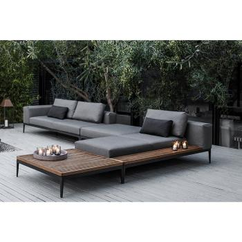 Ck802 Fashion Modern Deep Seat U Shape Outdoor Sofa Set Home Living Room  Big Sofa European Style Furniture - Buy Teak Deep Seat Outdoor Sofa Set ...