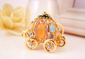 YWbeyond crystal pumpkin carriage keychain purse hanger crystal wedding  favors and gifts 0138fc0cd