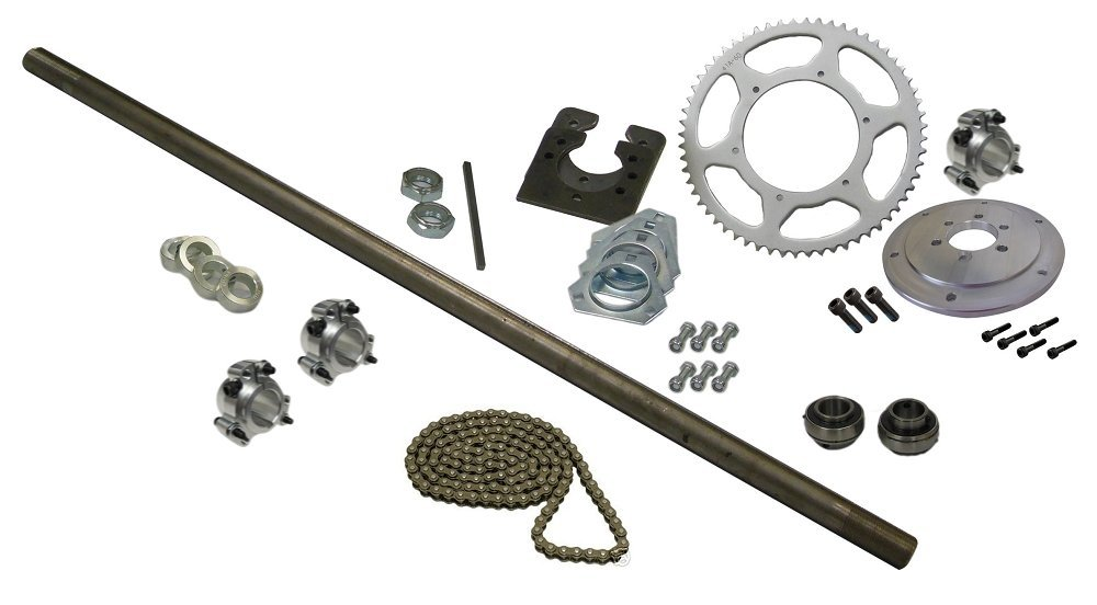 Pillow Block Bearings 36 Axle BMI Karts Drift Trike Axle Kit with Clutch #40 Chain
