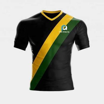 94dd5f1d2ea69 Dri Fit nuevo diseño amarillo verde cómodo uniforme del Jersey de fútbol y  pantalones cortos