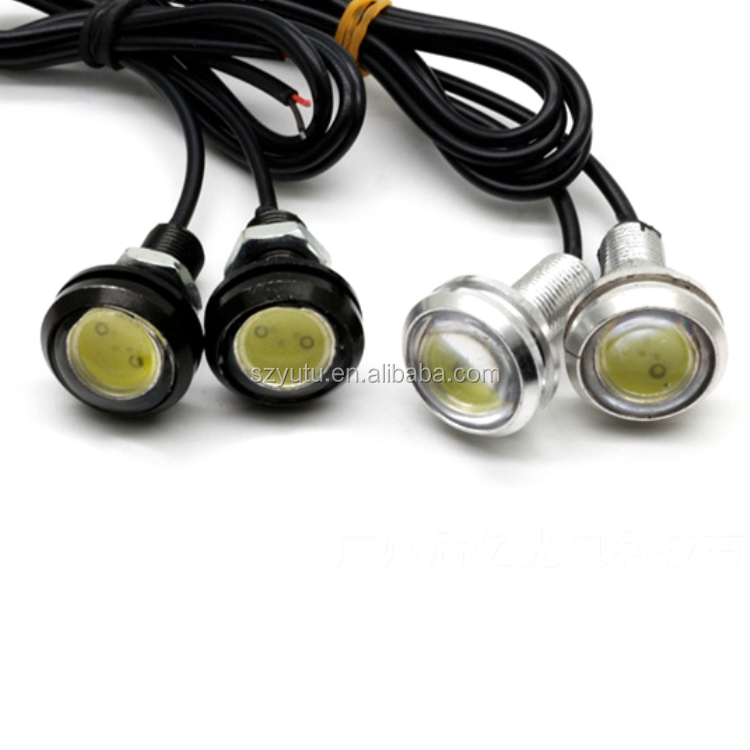 18mm Led Eagle Eye אור COB עדשת 12 V DC DRL לבן כחול אדום ירוק ענבר קרח ורוד מנורה
