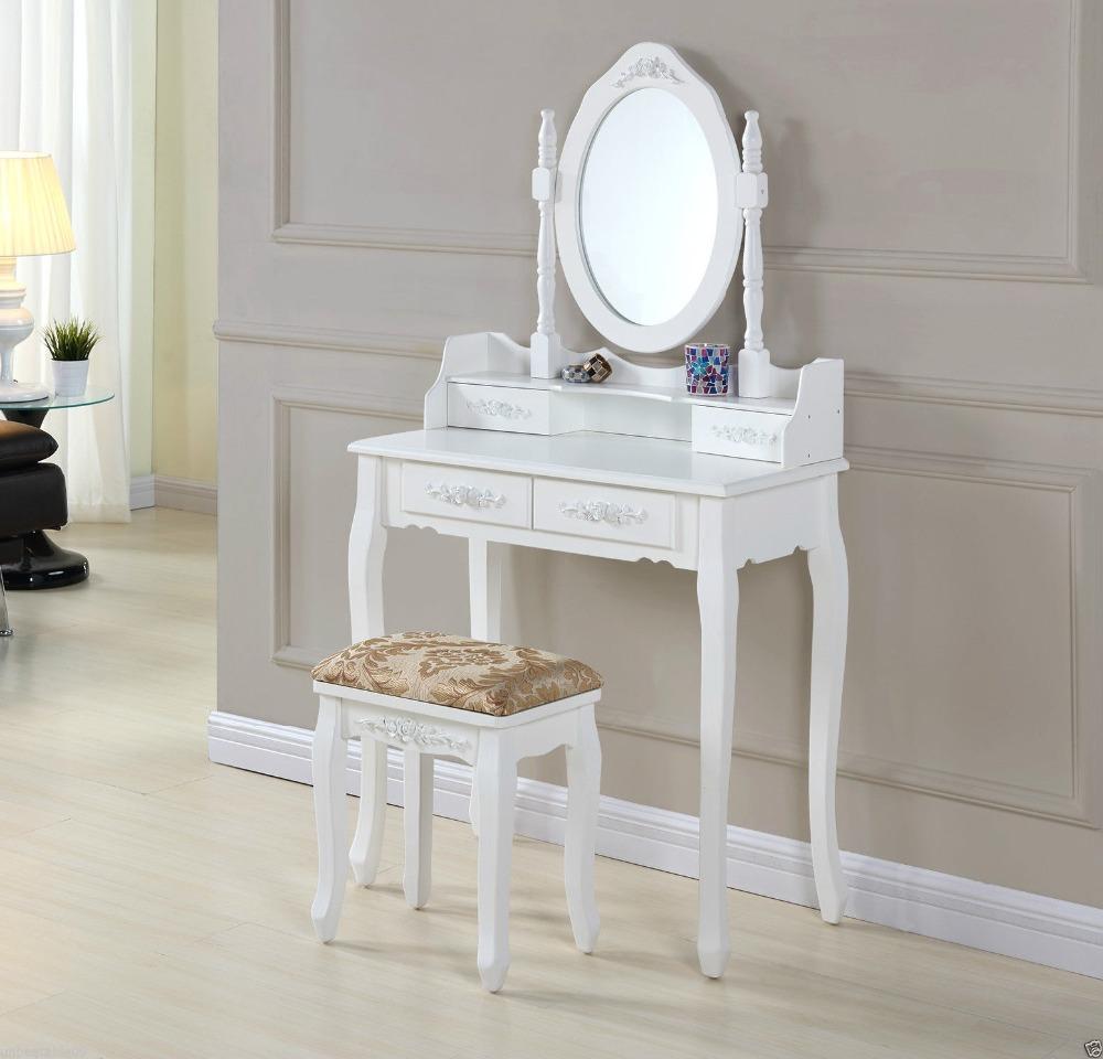 Cristal Moderno Madera Muebles Aparadores Mesa De Maquillaje  # Muebles Tocadores Modernos