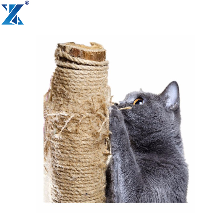 3strand 6mm natural twisted sisal rope for cat tree rope