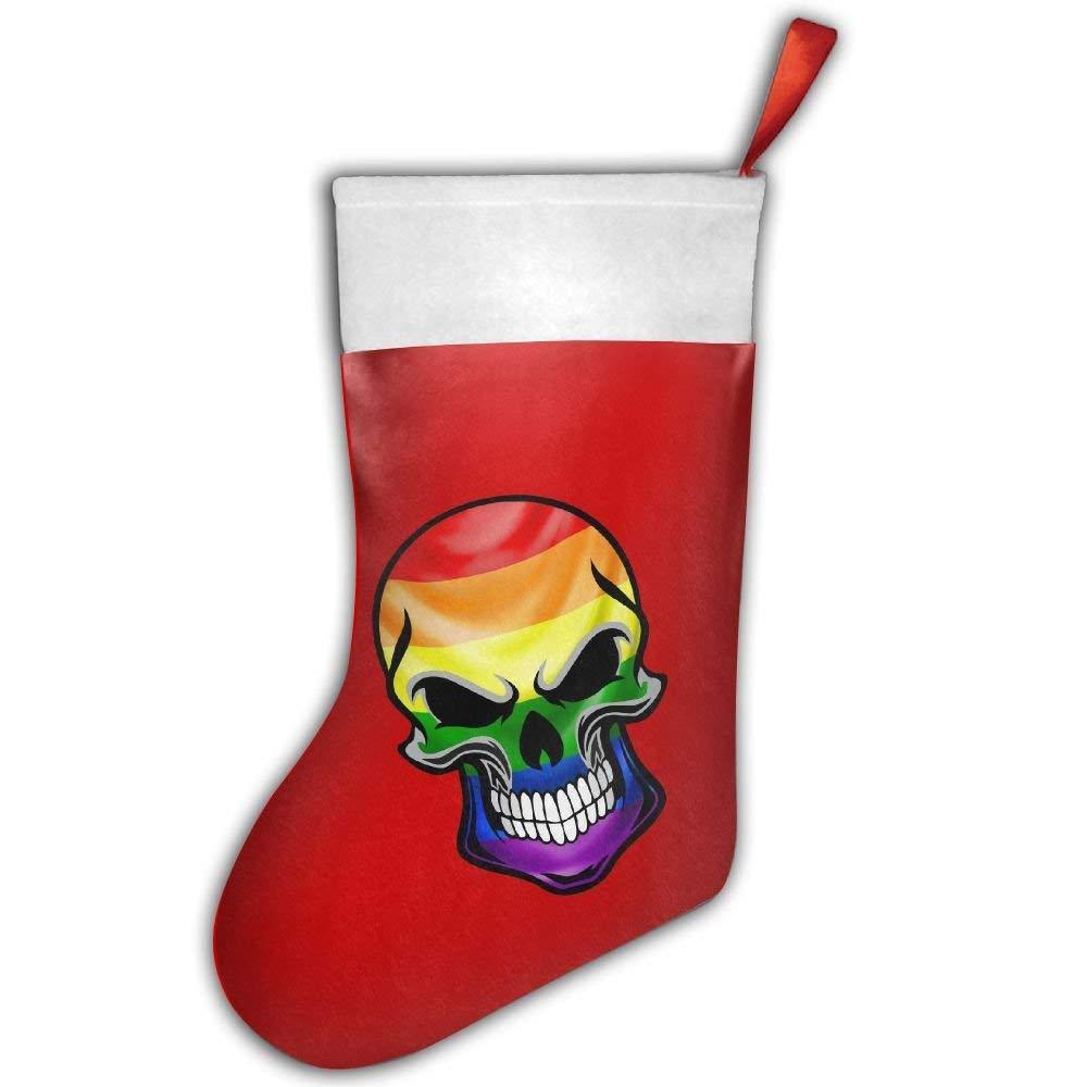 get quotations skull with lgbt gay pride rainbow flag christmas hanging stockingassorted santa gift socks hanging - Gay Pride Christmas Decorations