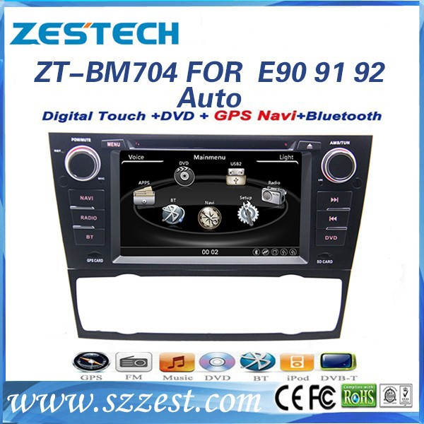 2 din car sat nav for BMW E92 Auto Air Condition ZT-BW704 oem car dvd player 3 series original navigation