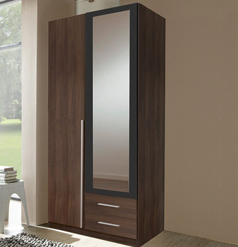 2 Door Wardrobe With Mirror Bedroom Cupboard Designs Aluminium Cupboards