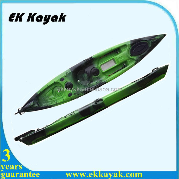 plastic ocean fishing canoe kayak with luaggage place for kayak sale