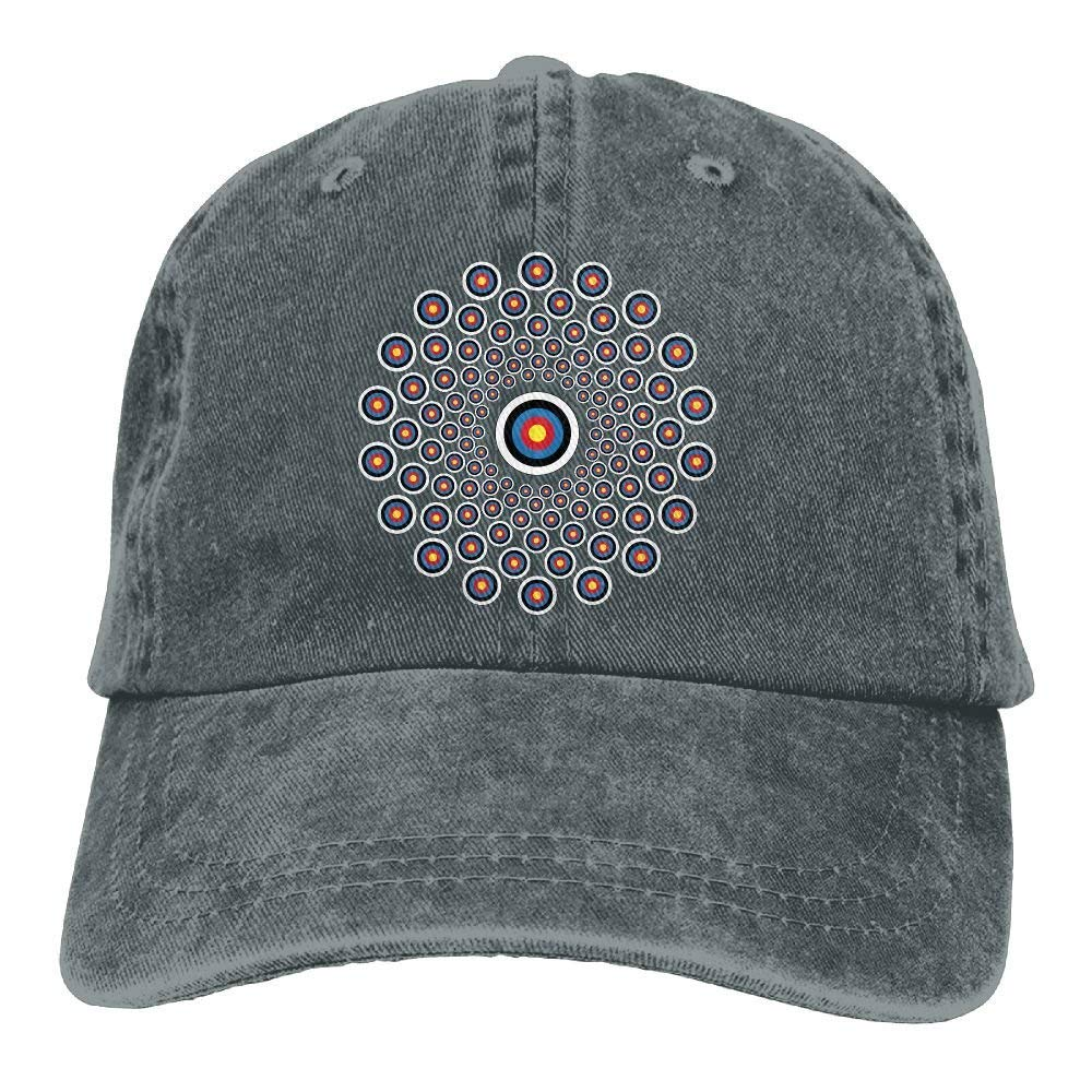 157e15c01 Get Quotations · Adjustable Cowboy Style Baseball Cap Hat Archery Target  Colorado Unisex Vintage Washed Dyed Cotton Plain Cowboy