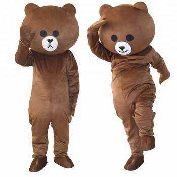 sales promotion big events black and brown bear mascot costume adult