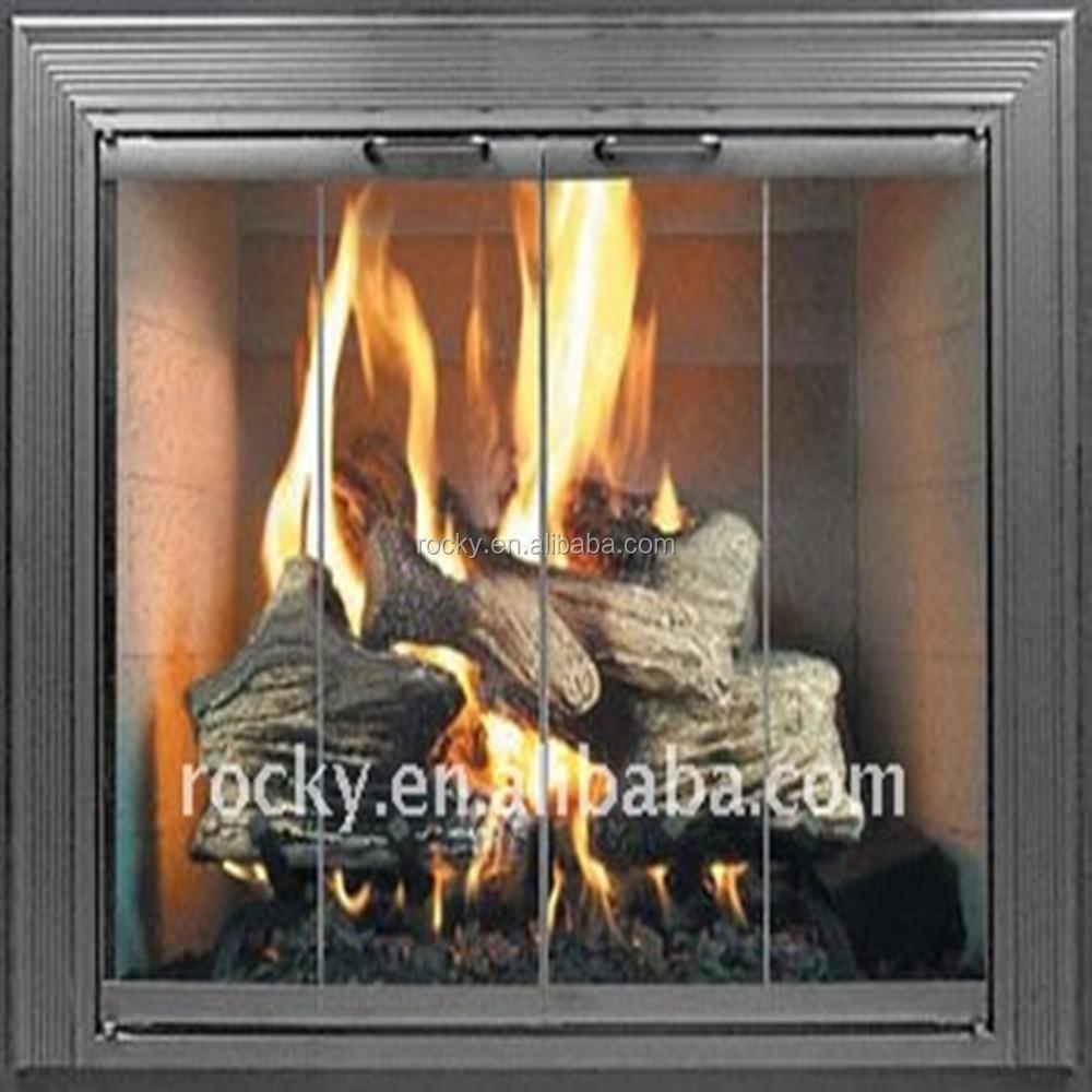 Resistant Furnace Flat Fireplace Door Frit Ceramic Glass Sheet Buy Tempered