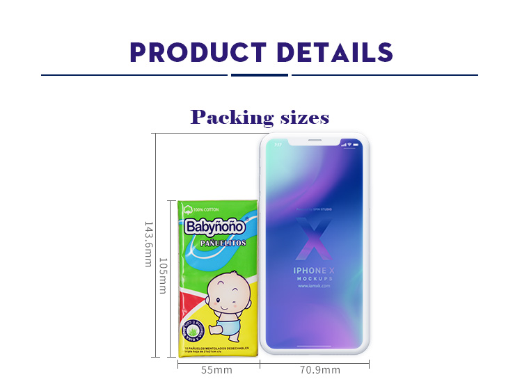 Hot selling cheap 3-ply  economical facial pocket tissue