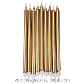 Metallic Gold Glitter Birthday Cake Candle Set Of 24 Chime Ritual Spell Taper Candlecake Topper