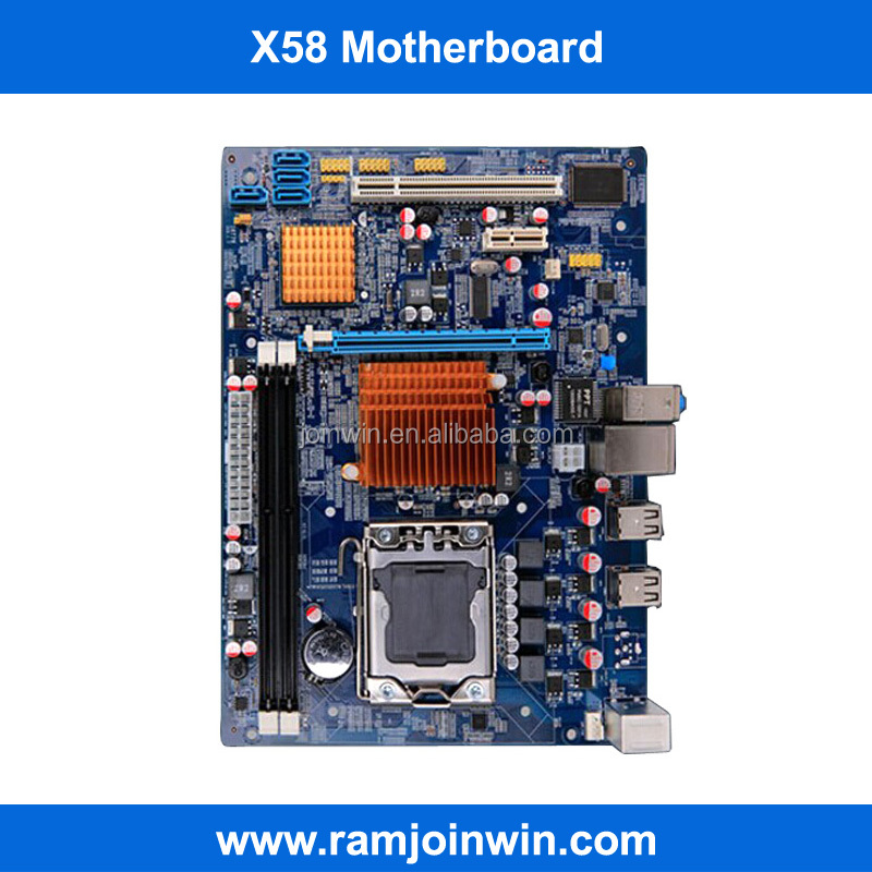 3 years warranty dual channel non-integrated x58 motherboard lga 1366 ddr3