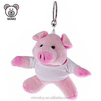 Mini Plush Pink Pig Keyring Toy With T shirts Wholesale Promotion OEM  Custom LOGO Stuffed Soft 0bcd4093e12b