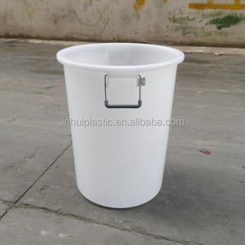 Bevorzugt 60 Liter Außenmülleimer Runder Kunststoff-abfalleimer Mit Deckeln HY57