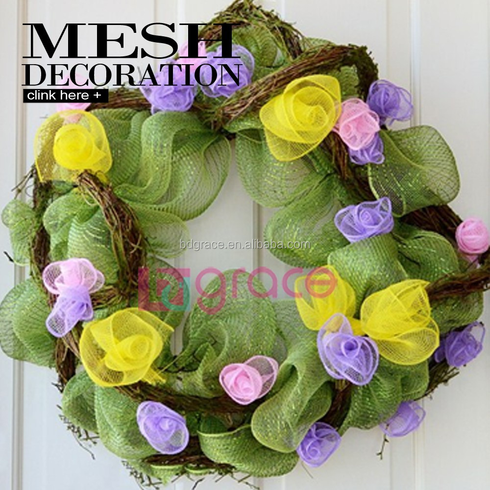 Alibaba China Easter Mesh Wreath Craft Supplies